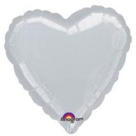 Metallic Silver Heart Foil Balloon