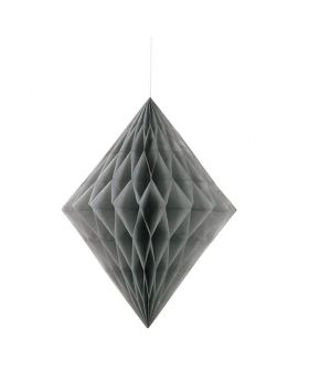 Silver Honeycomb Hanging Decoration 35cm