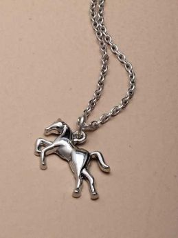 Horse Pendant Necklace 15""
