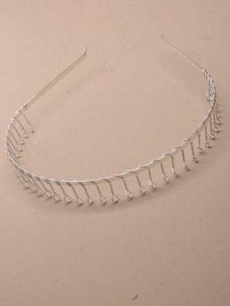 Silver Metal Headband with Wire Hair Comb
