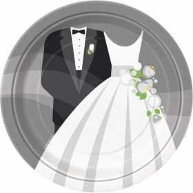 "Silver Wedding 9"" Paper Plates"