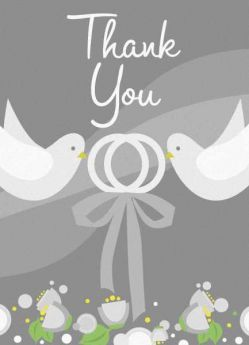 Silver Wedding Thank you Notes