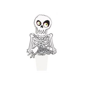Skeleton Halloween Cupcake Toppers