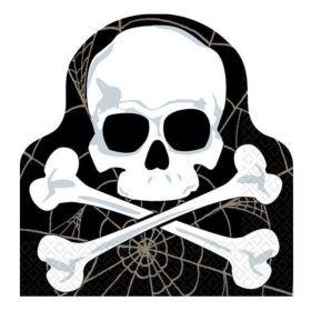 Halloween Skull Die Cut Party Napkins