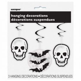 Skull and Bat Halloween Hanging Party Decoration