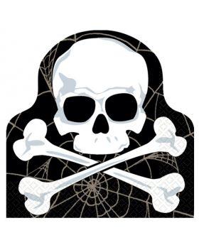 Halloween Skull Die Cut Luncheon Napkins, Pack of 16