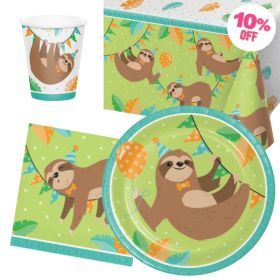 Sloth Party Tableware Pack for 8