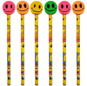 Smile Pencil with Eraser Top