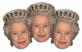 Queen Elizabeth II Mask Pack pk3