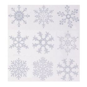 Silver Glitter Snowflake Window Clings