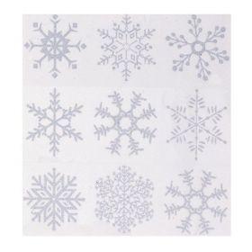 Silver Glitter Snowflake Window Clings