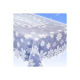 White Plastic Lace Tablecover