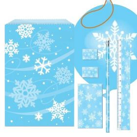 Snowflakes Christmas Party Bags
