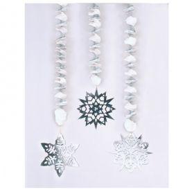 Snowflakes Foil Dangling Cutouts 76cm