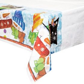Snowman Buddies Christmas Tablecover 1.37m x 2.13m