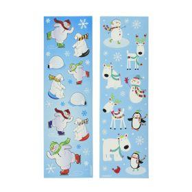 Joyful Snowman Winter Fun Stickers, pk8