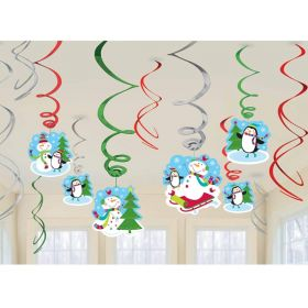 Joyful Snowman Swirl Decorations