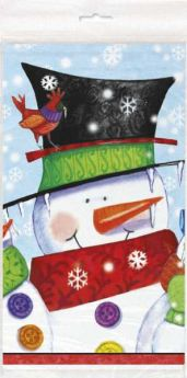 Snowman Buddies Christmas Tablecover