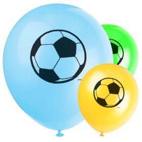 """3D Soccer Latex Balloons 12"""", pk8"""