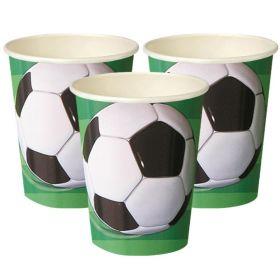 3D Soccer Paper Cups pk8