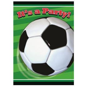 3D Soccer Party Invitations pk8