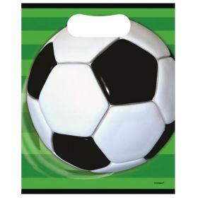 3D Soccer Plastic Lootbags pk8