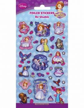 Sofia Re-Usable Foil Sticker Sheet