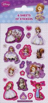 Sofia the First stickers 6pk