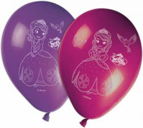 Disney Sofia The First Latex Party Balloons 8pk