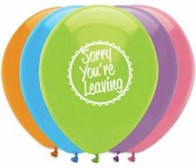 Sorry you're leaving latex balloons pk6