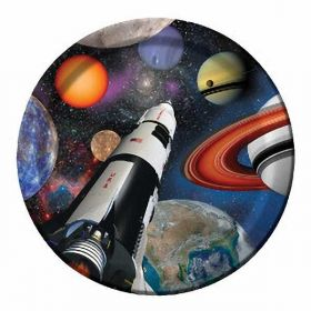 "Space Blast Party 9"" Paper Plates, 8pk"