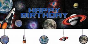 Space Blast Giant Party Banner