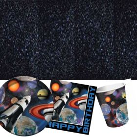 Space Blast Party Tableware Pack for 8