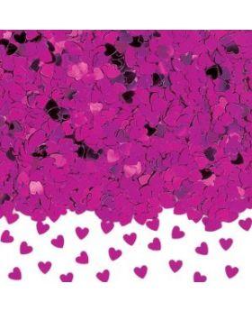 Sparkle Hearts Hot Pink Confetti