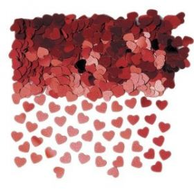 Sparkle Hearts Red Confetti