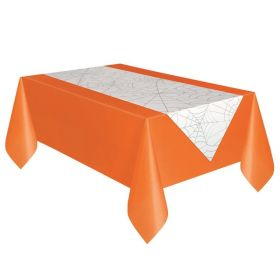 Fabric Spider Web Halloween Table Runner 45cm x 2.24m