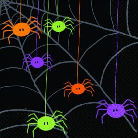 Halloween Spider Frenzy Luncheon Napkins, Pack of 20