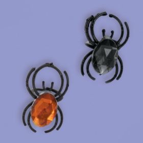 Spider Jewel Halloween Rings 12pk