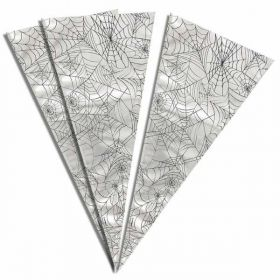 Spider Web Large Cone Cello Bags, 20 Pack