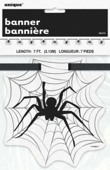 Spider Web Cut Out Banner