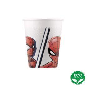 Spiderman Super Hero Party Cups 200ml, pk8
