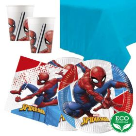 Spiderman Super Hero Tableware Pack for 16