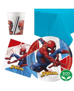 Spiderman Super Hero Party Tableware Pack for 8