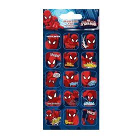 Spiderman Captions Fun Foil Re-usable Sticker Sheet