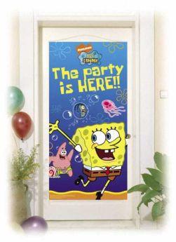 Spongebob Surf Party Door Banner