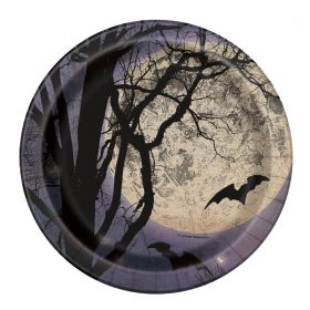 Spooky Night Halloween Party Plates 18cm, pk8