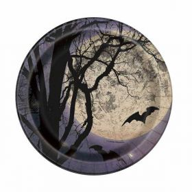 "Spooky Night 7"" Plates pk8"
