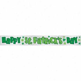 St. Patrick's Day Shamrock Foil Banner