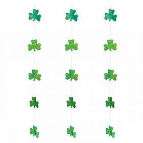 St Patricks Day Shamrock  Hanging String Party Decoration