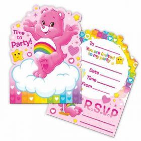 Care Bear Invitations pk6